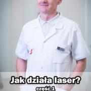 doktor Paweł Grzywacz w klinice LASERMED