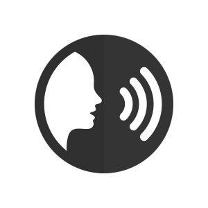 Człowiek wydający z siebie głos - schemat