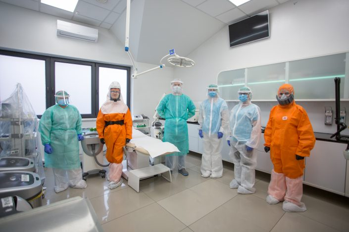 załoga LASERMED przygotowana na pandemie