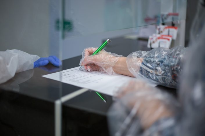 warunki w klinice podczas pandemii