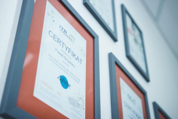 certyfikat lekarza medycyny rodzinnej Pawła Grzywacza